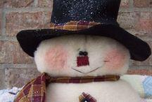 Navidad-muñecos de nieve