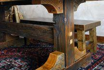 Обеденные столы из дерева