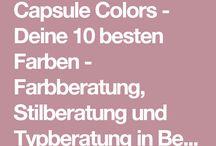 Capsule Garderobe / Colors / Herbst-& Frühlingstyp