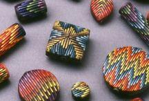 Bargello polymer clay
