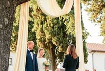 Symbolic Ceremonies in Tuscany / Here are just a few of Tuscania Event's symbolic outdoor ceremonies in some of the beautiful locations in Tuscany.