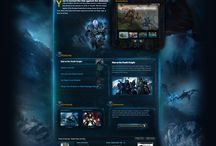 WebDesign Artwork / Websites which has more than code and magnificent artworks on template. This websites mostly for games and all design has a massive illustrations