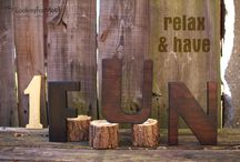 Wooden Letters / handmade, wooden letters