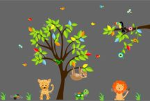 Nursery Wall Decals / Wall decals to decorate baby nurseries