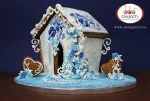 Мои пряники и пряничные домики. Пряники на заказ, gingerbread, cookie icing / Вкуснячие пряничные домики на заказ