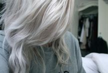 blond Grey hair