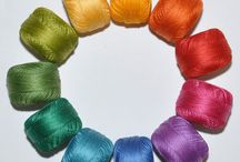 color inspiration: colorful products from Piece O' Cake / You can add these colorful lovelies to your very own projects!