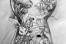 Alice In Wonderland Tattoo Ideas