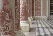 Columns pillars marble