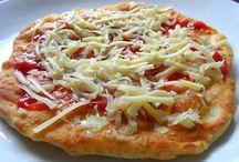 Langoše, Pizza a chuťovky na slano