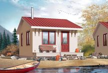 Small cabin ideas / Cabin/ guest house plans and interior ideas