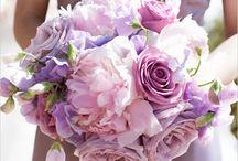 Fioletowe bukiety ślubne