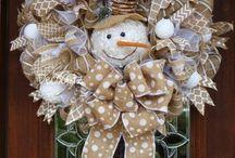 snowman wreaths