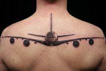Airplane tattoo / #airplanetattoo