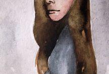 sketches and thoughts / #artist _diary #lady_girls #hermaphrodite #women_panting #women-artists #katerina_kokkinaki #portrait #women_portret