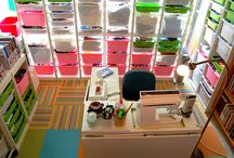 Creative Spaces / Inspiration for organizing your creative space