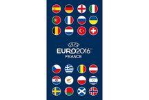 UEFA Euro 2016 Voetbal / Soccer / Dekbedovertrekken, hoeslakens, strandlakens en kussens van  UEFA voetbal.  UEFA Euro 2016