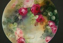 Hand painted Roses @}--',--- / by Marcia Lemler