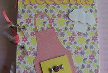 Caderno de Receitas / Caderno de receitas, para comprar acesso elo7.com.br/bilubilu