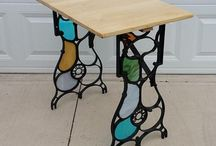 Stained glass sewing machine