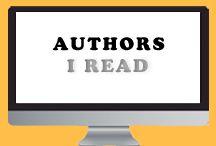 Authors I Read / Authors I read and love.
