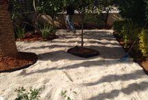 הקמת גינה ירוק ישראלי / התקנת דשא סינטטי, גינה לפני ואחרי התקנת הדשא. משתלות ירוק ישראלי