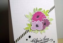 cards - pretty peonies