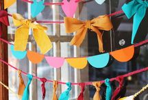 garlands banners bunting flags