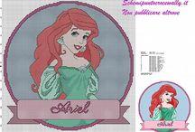 Le Principesse Disney Schemi punto croce gratis / Le Principesse Disney Schemi punto croce gratis, da ricamare gratis, realizzate con PcStitch.