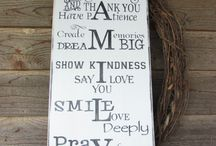 Rustic Signs / Family rules