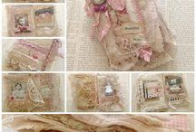 Fabric books, vintage pockets and snippet rolls