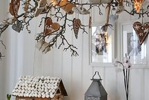Nordic Christmas / Inspiration for entrance hallway over Xmas