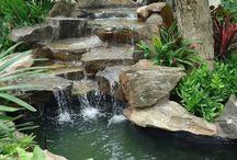 Jardins com cascata