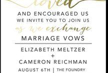 Wedding - Invitations / by Marisol Marín-Brito