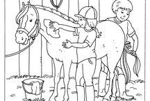 Kleurplaten / Kleurplaten (zit veel paarden tussen)