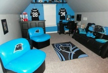 Carolina Panthers Rooms & (wo)Man Caves / Carolina Panthers Bedroom, Rooms & (wo)Man Caves - Pictures, Ideas, & Fun Products / Merchandise