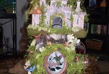 Fairy Gardens / Fairy Garden Castle, that stays in the kitchen. / by Peggy Wyscaver Novak
