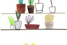 Plantas / plantas, árboles y terrarios