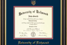 UR - University of Richmond Diploma Frames & Graduation Gifts! / Official UR Diploma frames. Exquisitely crafted to exacting specifications for the UR diploma. Custom framed using hardwood mouldings and all archival materials, including UV glass to prevent fading from sunlight AND indoor incandescent lighting! Each frame exceeds Library of Congress standards for document preservation and includes a 100% lifetime guarantee, ensuring that a hard-earned achievement will be honored and protected for generations. Makes a thoughtful and unique graduation gift!