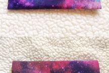 Galaxy cosmetic bag
