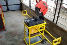 Cut off saw trolley