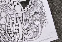 Art Doodles-Tangles-Sketches / Doodling, Sketching, Simple Drawing