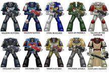 Warhammer 40K (Chapter Colour Schemes)