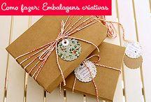 Embalagens criativas / Idéias de embalagens para presente ou decoração
