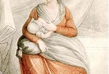 "1790 to 1830 Maternity & Nursing / ""Regency"" era clothing for the mother to be and nursing mother."