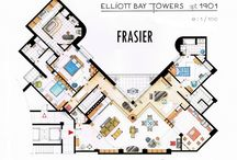 My favorite tv shows in plans / Floor plans of TV Shows by Inaki Aliste Lizzarde