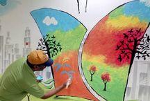 Wall Arts & Graffiti Art / We do graffiti wall arts for offices, home etc.