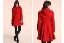 red (coat) (hood)