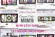 SALES, COUPON CODES & EVENTS !!! - Letters of Love Designs / I photograph things that look like letters and make them into custom wood signs.  This board features current sales, deals, coupon codes, events and more!