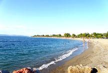 Η παραλία στο Πευκί Ευβοίας. / Μια ήρεμη μέρα στην παραλία για μπάνιο και χαλάρωση.